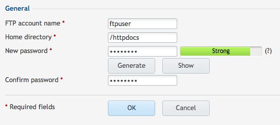 ftp user password: