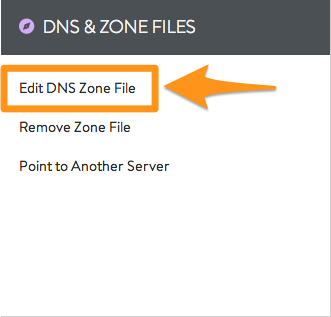 Edit DNS Zone File