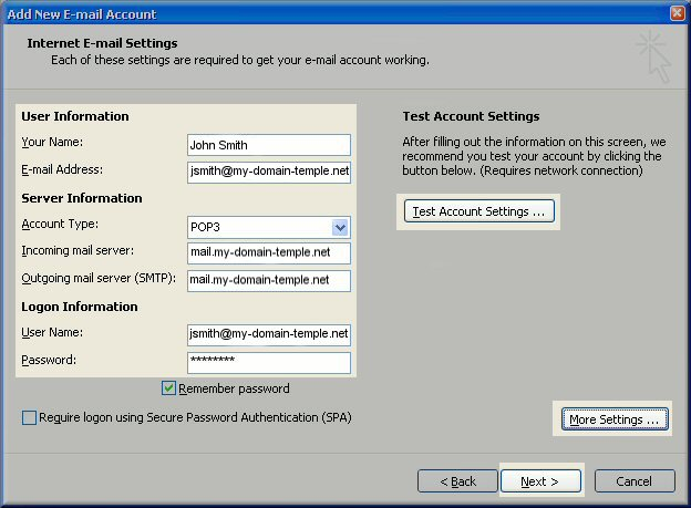 outlook-2007-test-account-settings