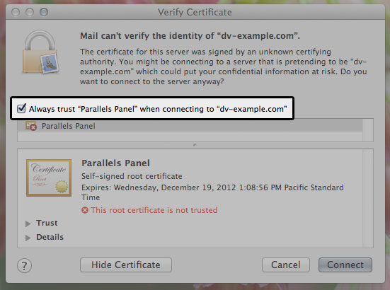 Change Default Certificates for SMTP, IMAP, and POP3 over SSL ...