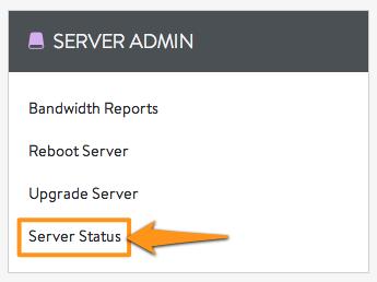 DV Server Admin Menu