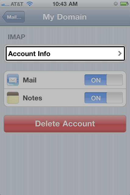 how can i change my email account on iphone