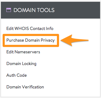 Purchase Domain Privacy