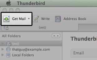 how to make thunderbird email full page