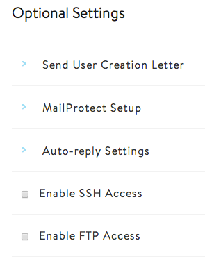 GS Email user options
