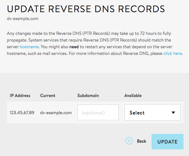 Managing Reverse DNS Records for Your Server - Media Temple
