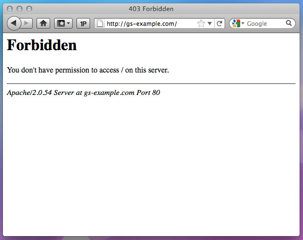 Why am I seeing a 403 Forbidden error message? - Media Temple