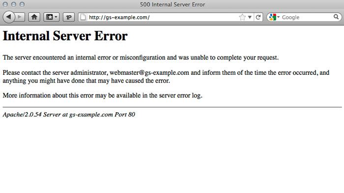 Why am I getting a 500 Internal Server Error message? - Media Temple