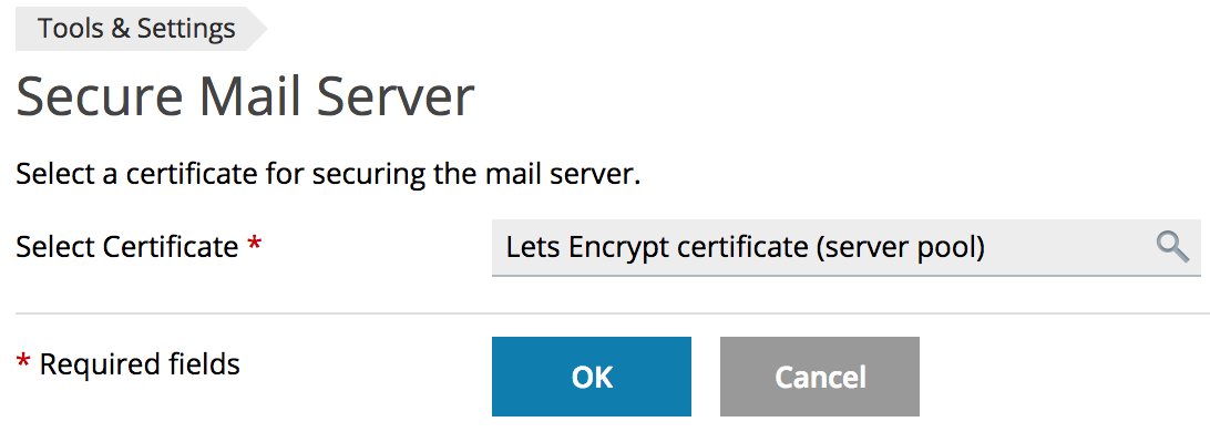 Change Default Certificates For Smtp Imap And Pop3 Over Ssl