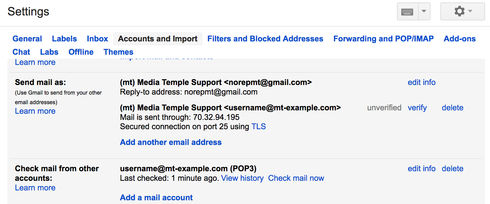 How Do I Use Gmail To View My Media Temple Email Media Temple