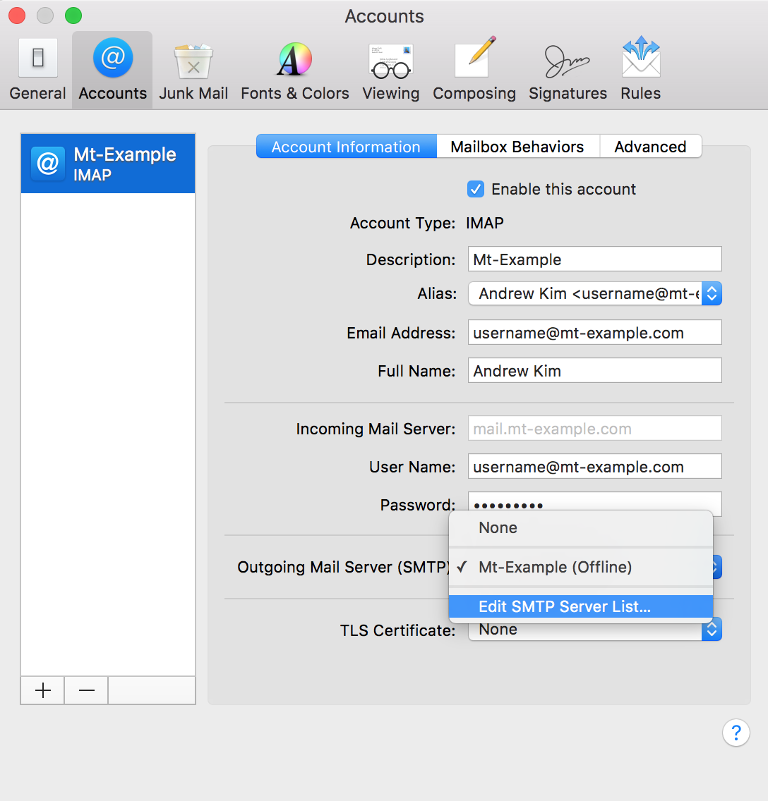 How can I update my email settings in Apple Mail? - Media Temple