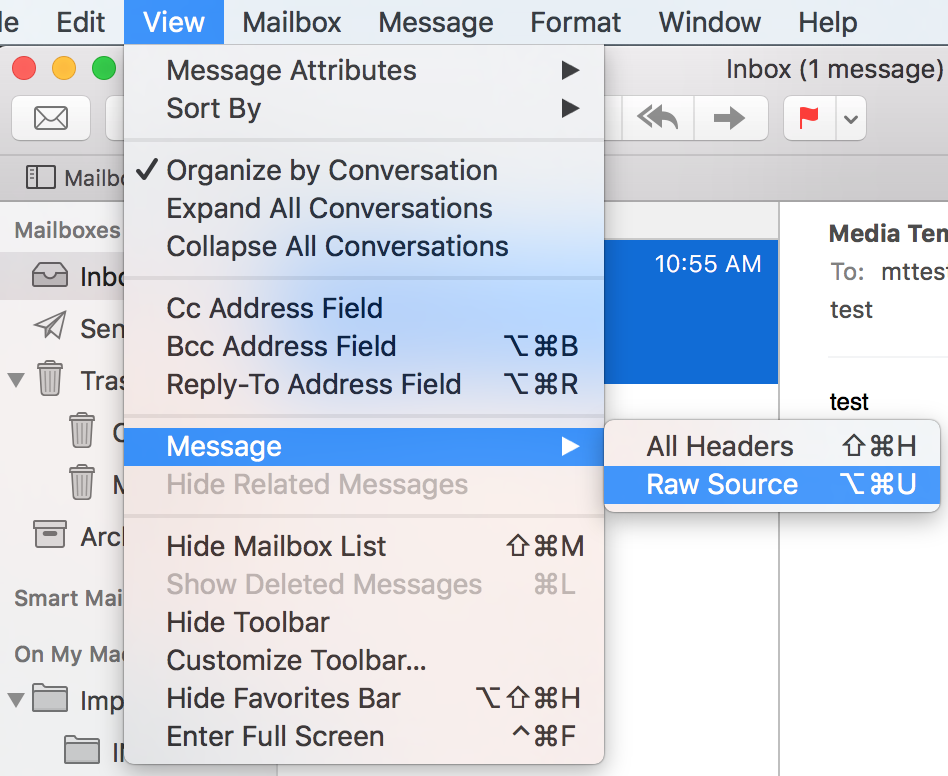 How do I view email headers for a message? - Media Temple