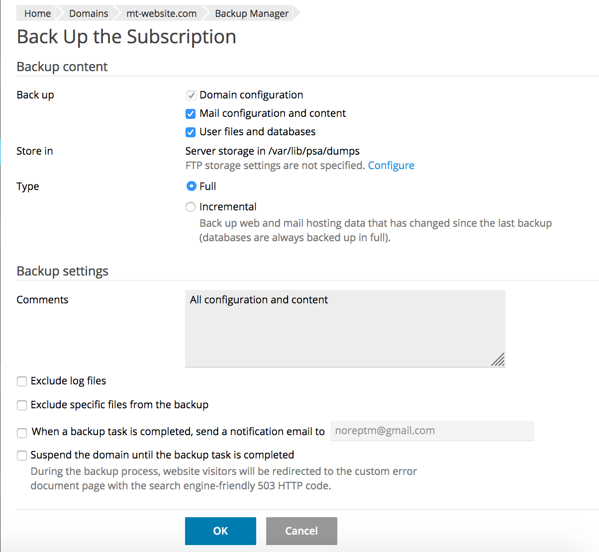 Creating and Restoring Backups Using Plesk's Backup Manager - Media