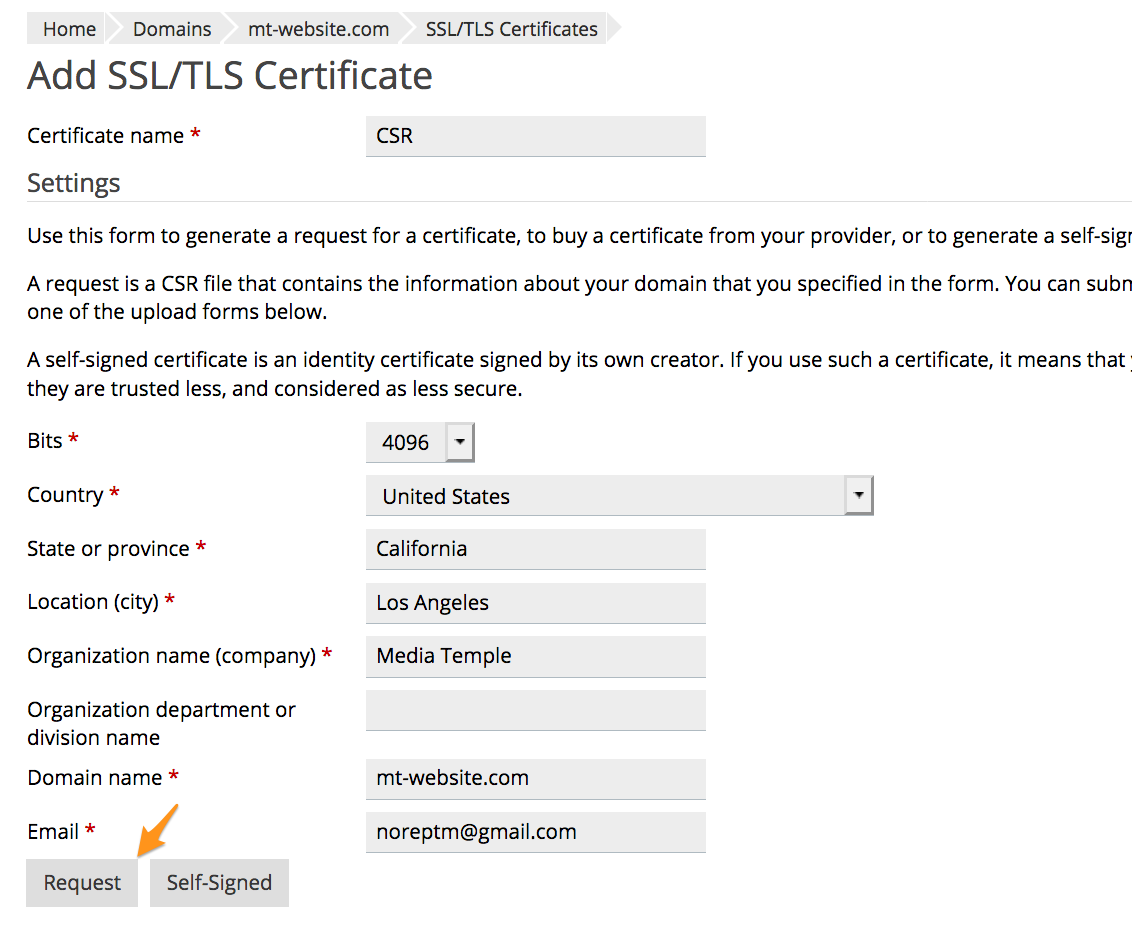 How do I Generate a CSR (Certificate Signing Request