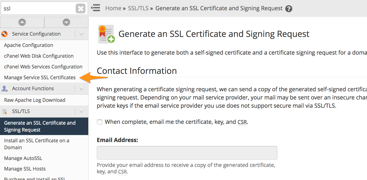 Change Default Certificates for SMTP, IMAP, and POP3 over