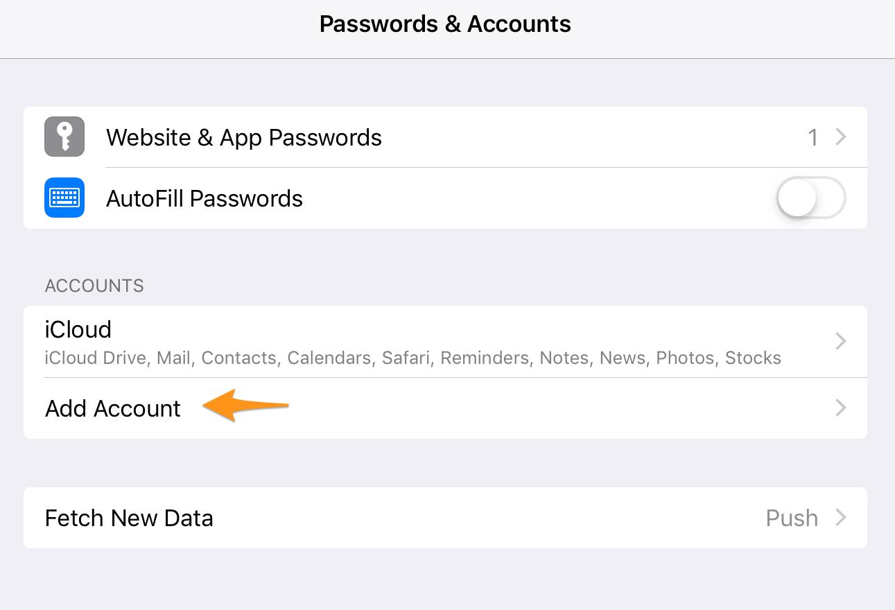configurer mail free sur ipad air