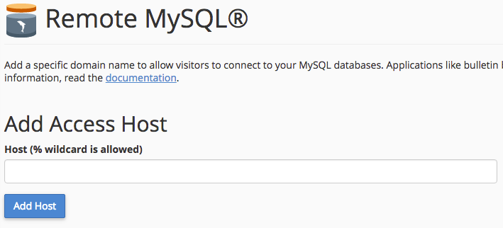 Setting up External MySQL Connections - Media Temple