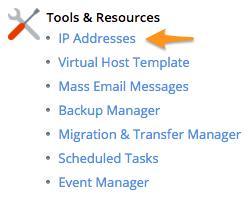 plesk assign ip address