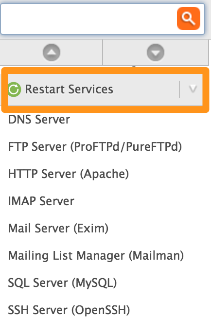 Start, stop, or restart system services on your DV - Media